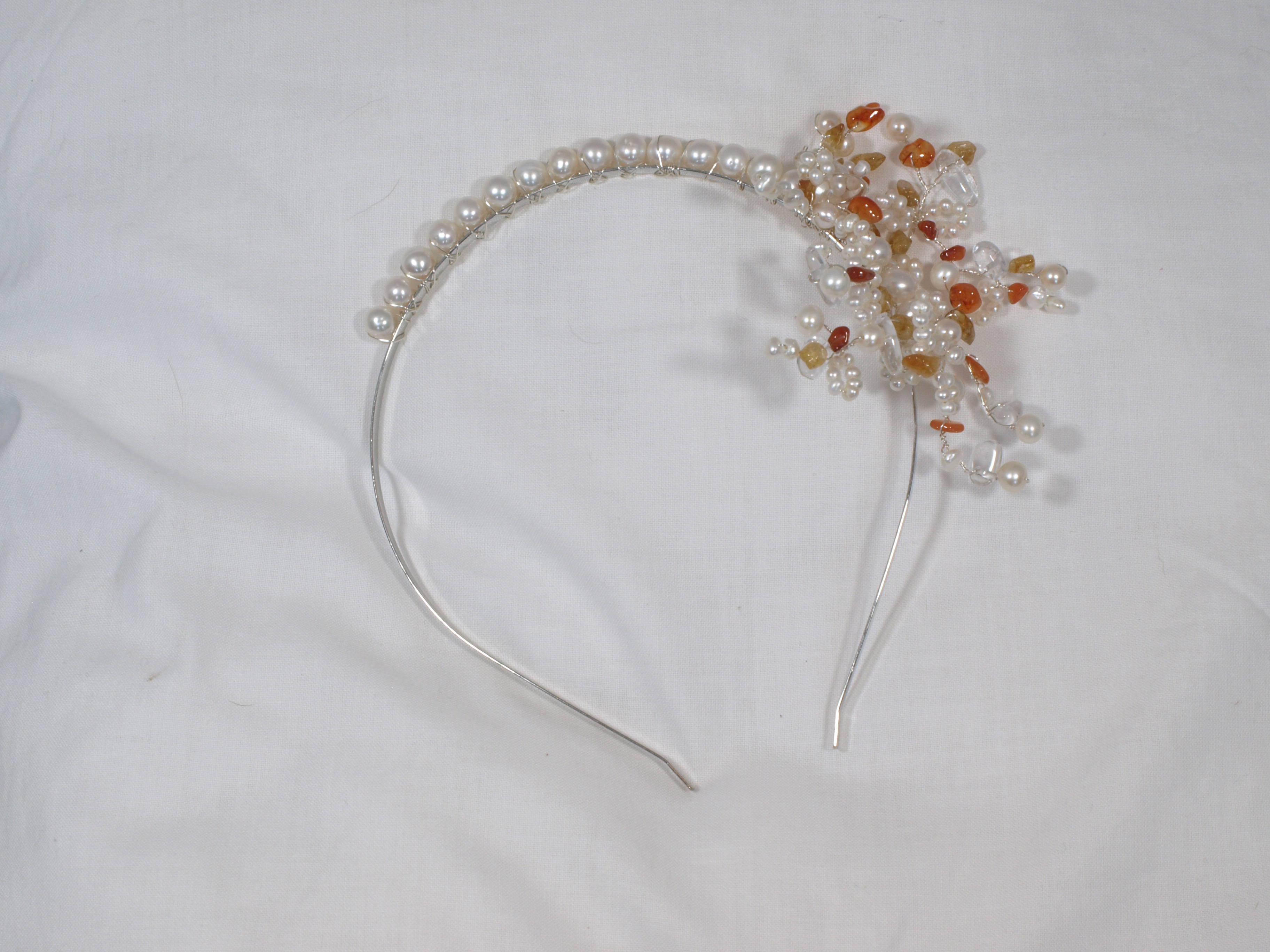 Sunburst side tiara